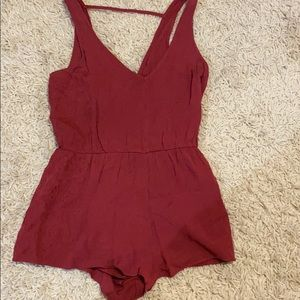 Maroon shorts romper/jump suit! Forever 21!